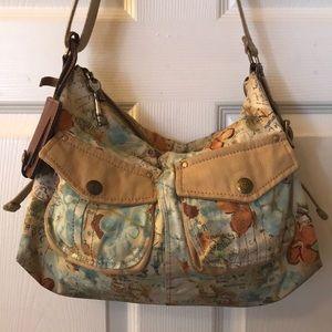 Fossil explorer zip handbag